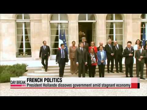 French president dissolves government amid stagnant economy   올랑드 대통령 개각 지시