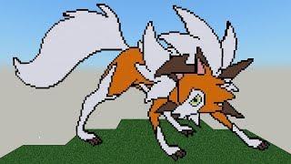Bock Story Pixel Art Speed build: Lycanroc (Dusk Form)