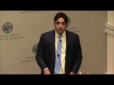 Bilawal Bhutto Zardari speech at United States Institute of Peace