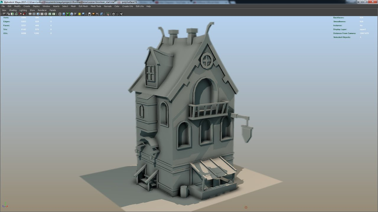 House Building Games Maya Modeling Techniques How To Guide Part 4 Youtube