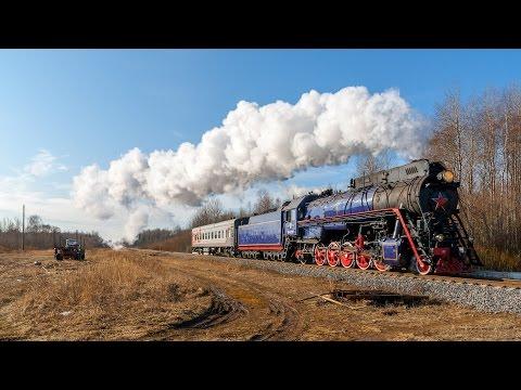 [RZD] LV-0522 Steam Locomotive, Vyazhishe - Rogavka Strech