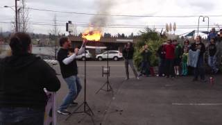 World record for fire eating: Most torches extinguished in 30 seconds March 2, 2013
