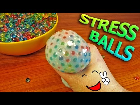 Thumbnail: Making Stress Balls using parts from last video - Also Slime & Orbeez