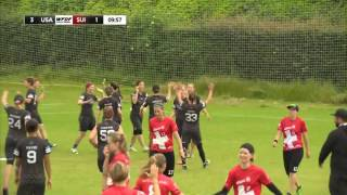 WUGC 2016 - USA vs Switzerland Women's