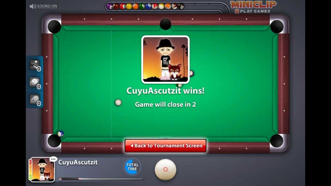Miniclip 8 ball Pool multiplayer - 3500 victories - YouTube