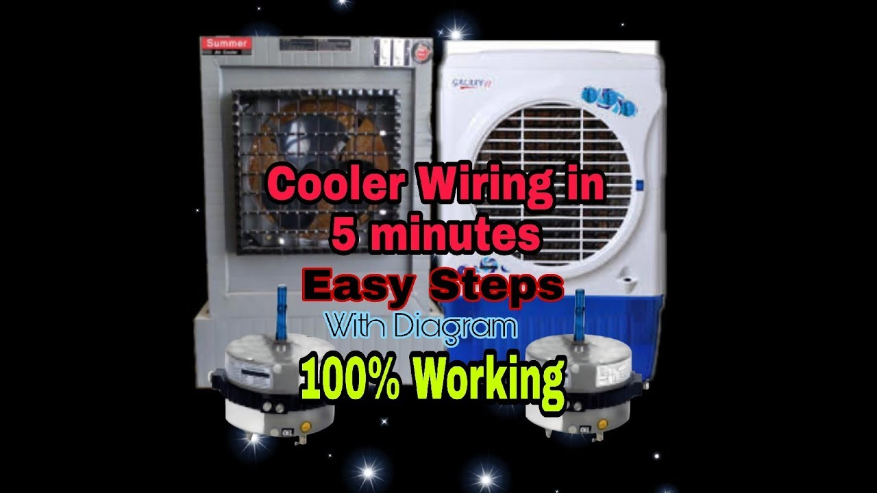 cooler wiring in hindi |100% working| cooler connection |easy steps| with  diagram