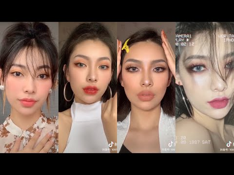 HER GLASS SKIN OMG 😮 CHINESE MAKEUP | HOT TIKTOK CHINA MAKEUP VIDEO | DOUYIN
