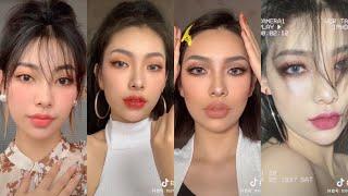 HER GLASS SKIN OMG 😮 CHINESE MAKEUP | HOT TIKTOK CHINA MAKEUP VIDEO | DOUYIN