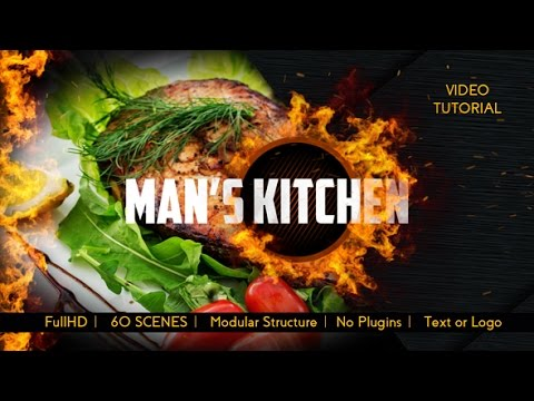 Men's Kitchen Menu | After Effects template