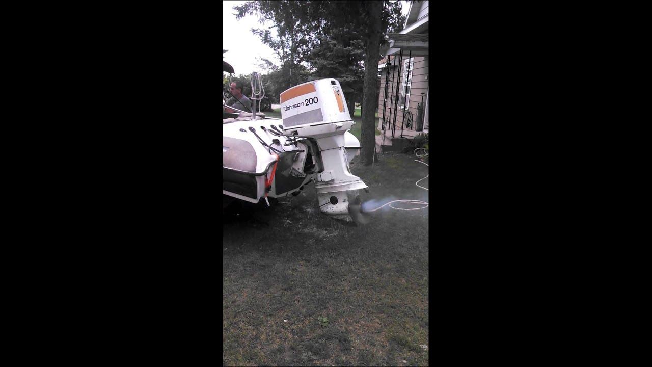 200 Hp V6 Johnson On A 79 Switzer Youtube Ken