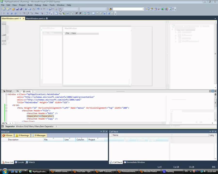 wpf menu style template - wpf menu doovi