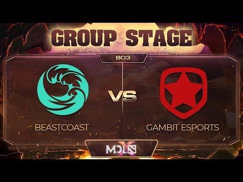 beastcoast vs Gambit Game 1 - MDL Chengdu Major: Group Stage