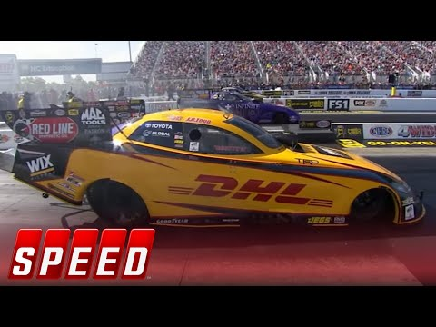 Four-Wide Nationals Funny Car Final - Charlotte   2017 NHRA DRAG RACING