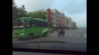 海南島琼海市街景(行車片段)
