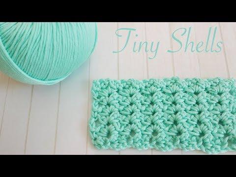 Easy Crochet Stitches: Tiny Shells (blankets, scarves, wash cloths)