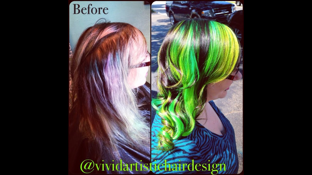 Katy Perry Green Chameleon Color Technique By Rebecca Taylor Vivid