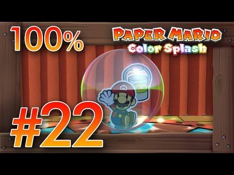 Paper Mario Color Splash 100 Walkthrough Part 22 | Cobalt Base ...