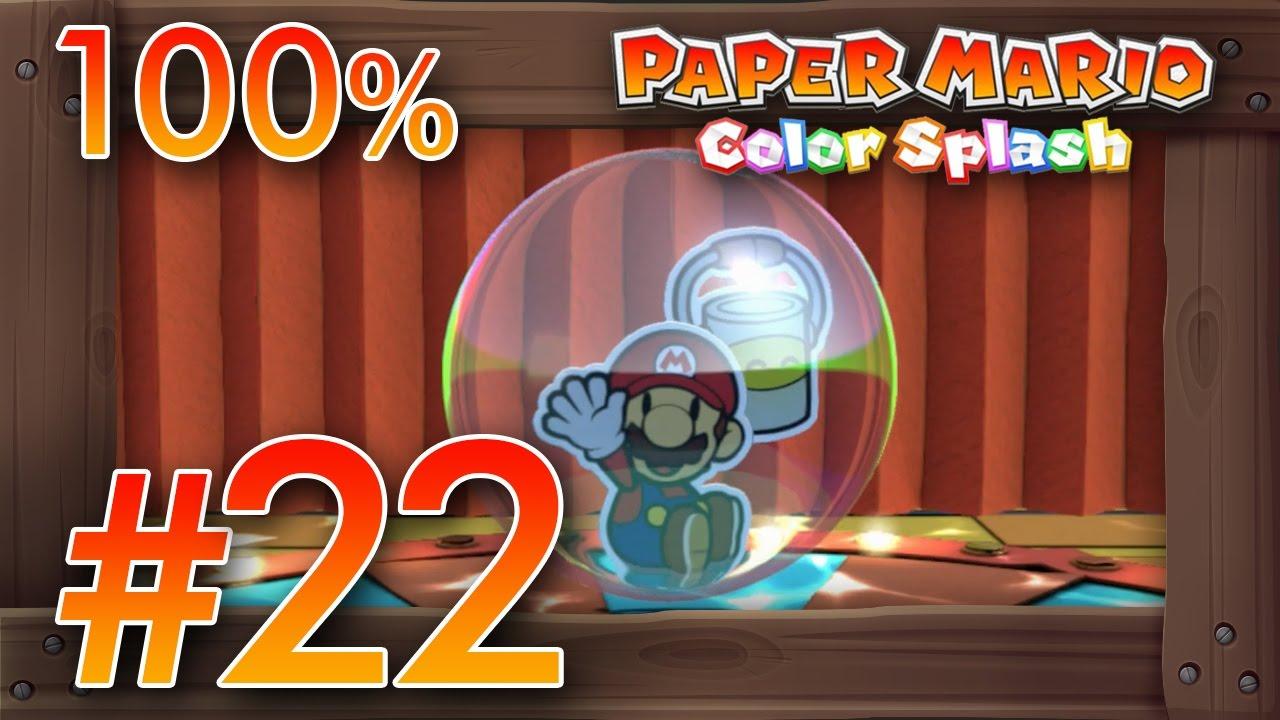 Paper Mario Color Splash 100% Walkthrough Part 22 | Cobalt Base ...