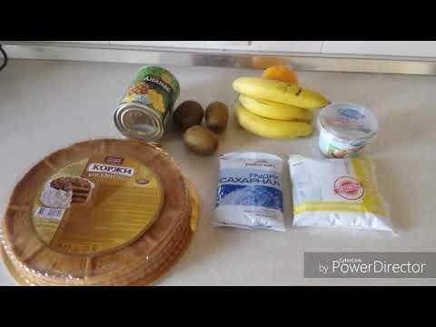 Торты из готовых коржей рецепты простые в домашних условиях с фото