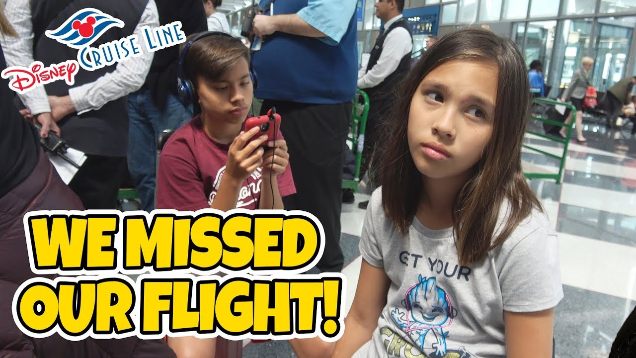 WE MISSED OUR PLANE!!! DISNEY CRUISE WEEK Day 0 - Heading to Barcelona for Mediterranean Cruise!