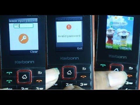 Karbonn K9 Mini Input Phone Password Remove