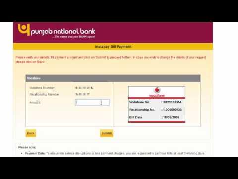 Pay All Postpaid Mobile Bills Via Punjab National Bank