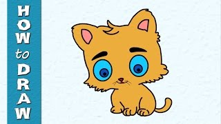 Kids Educational Series - How to Draw a Cat - Episode 27