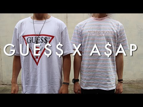 7e5f07f3340 GUESS x ASAP ROCKY LOOKBOOK - YouTube