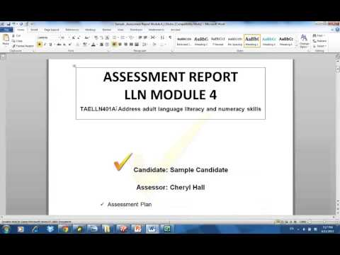Assessment tools, instruments and reports