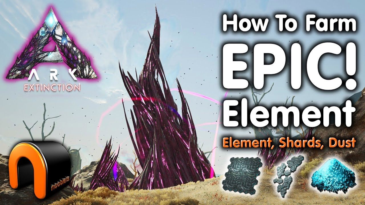 ARK Extinction HOW TO FARM ELEMENT, DUST & SHARDS!