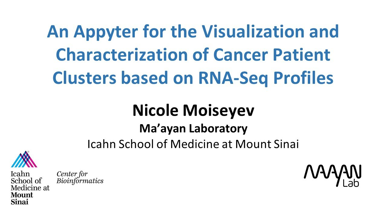 Appyter for Visualization and Characterization of Cancer Patient Clusters based on RNA-Seq Profiles
