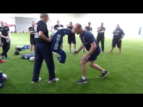 Hip pop & steal the ball rugby drill - Paul Gustard