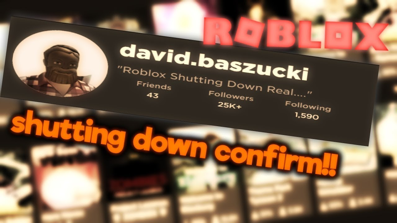 Roblox Will Be Shut Down Myth Confirmed Youtube