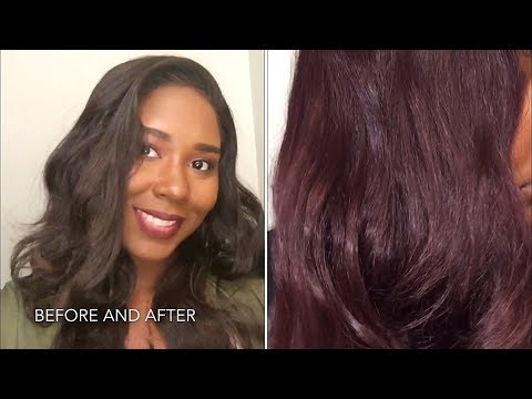 How To Dye Synthetic Lace Wig | Watercolor Hair Red