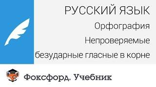 Русский язык. Орфография: Непроверяемые безударные гласные в корне. Центр онлайн-обучения «Фоксфорд»