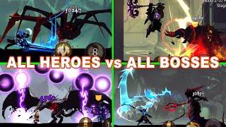 Shadow of Death Dark Knight All Bosses (Spider Queen, Boss Behemoth, Frost Vamp, Naga Overlord) screenshot 4