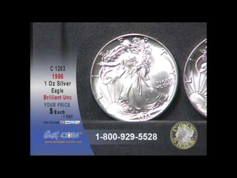 1986 Brilliant Uncirculated Silver Eagle on Art and Coin TV