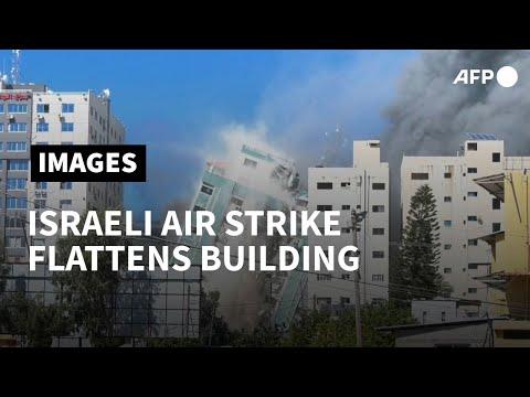 Israel flattens Gaza building hosting AP, Al Jazeera in air strike | AFP