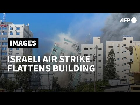 Israel flattens Gaza building hosting AP, Jazeera in air strike | AFP