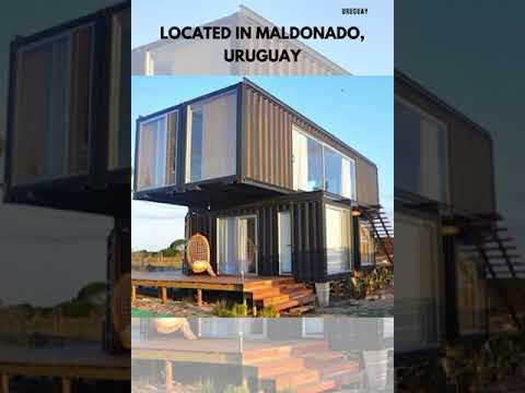 This Impressive House built using Four Shipping Containers located in Maldonado, Uruguay #Shorts