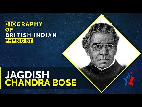 Jagdish Chandra Bose Biography in English