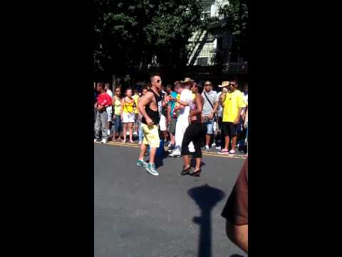 Colombian Festival of Rahway - 07/31/2011 - People dancing salsa on the street