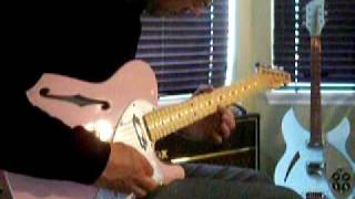 the shins so says i play along shell pink telecaster thinline 69 re issue vox ac30 mov