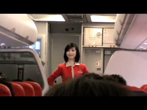 Lady DaDa's Safety Demonstration on Thai AirAsia Flight