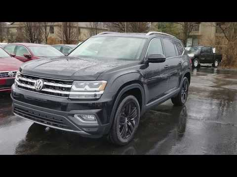 2018 VW Atlas SEL Premium black with Golden Oak interior