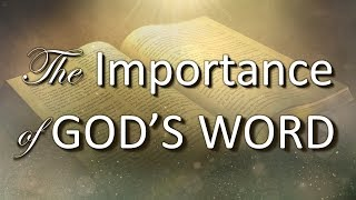 The Importance of God's Word.