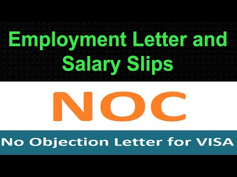 How To Write Application For NOC For Visa Application