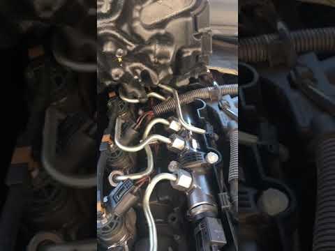 BMW 116d ED F20 N47 injector knocking