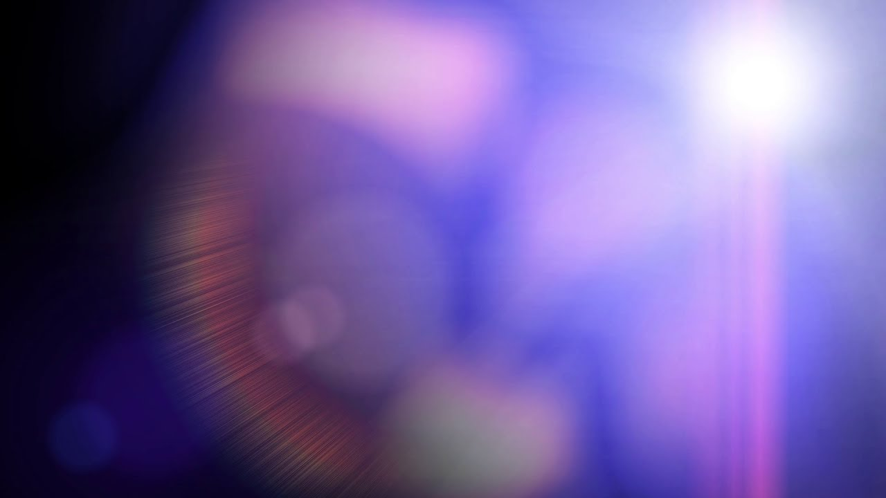 Film Burn Transition With Lens Flare Obliquely