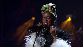 """Lauryn Hill performs """"Black Is the Color Of My True Love's Hair"""" at the 2018 Ceremony"""